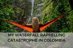 "My Waterfall Repelling Disaster in San Gil, Colombia""  data-lazy-loaded="
