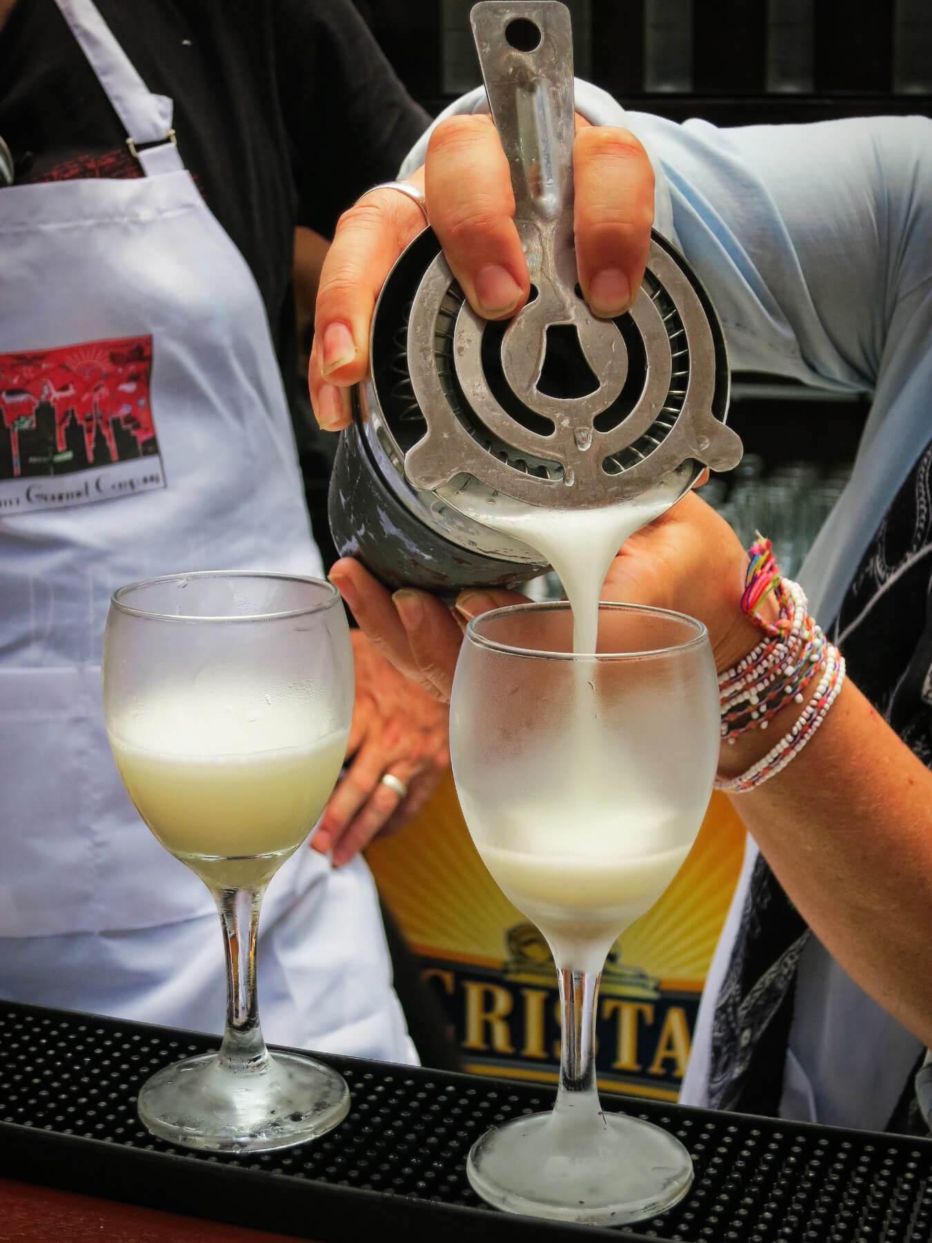 Making Pisco Sours with Lima Gourmet in Lima, Peru!