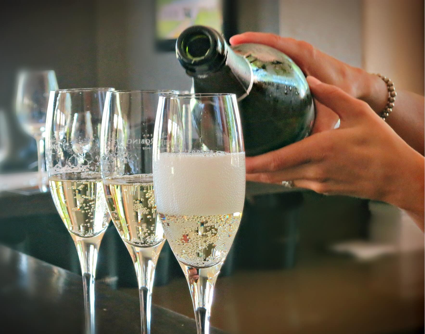 Sparkling wine on a wine tasting tour in Mendoza, Argentina with Mendoza Wine Camp.