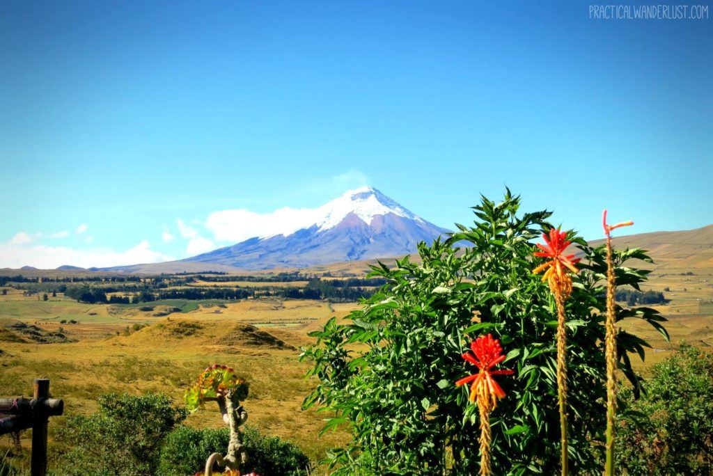 Cotopaxi, Ecuador as seen from The Secret Garden Hostel