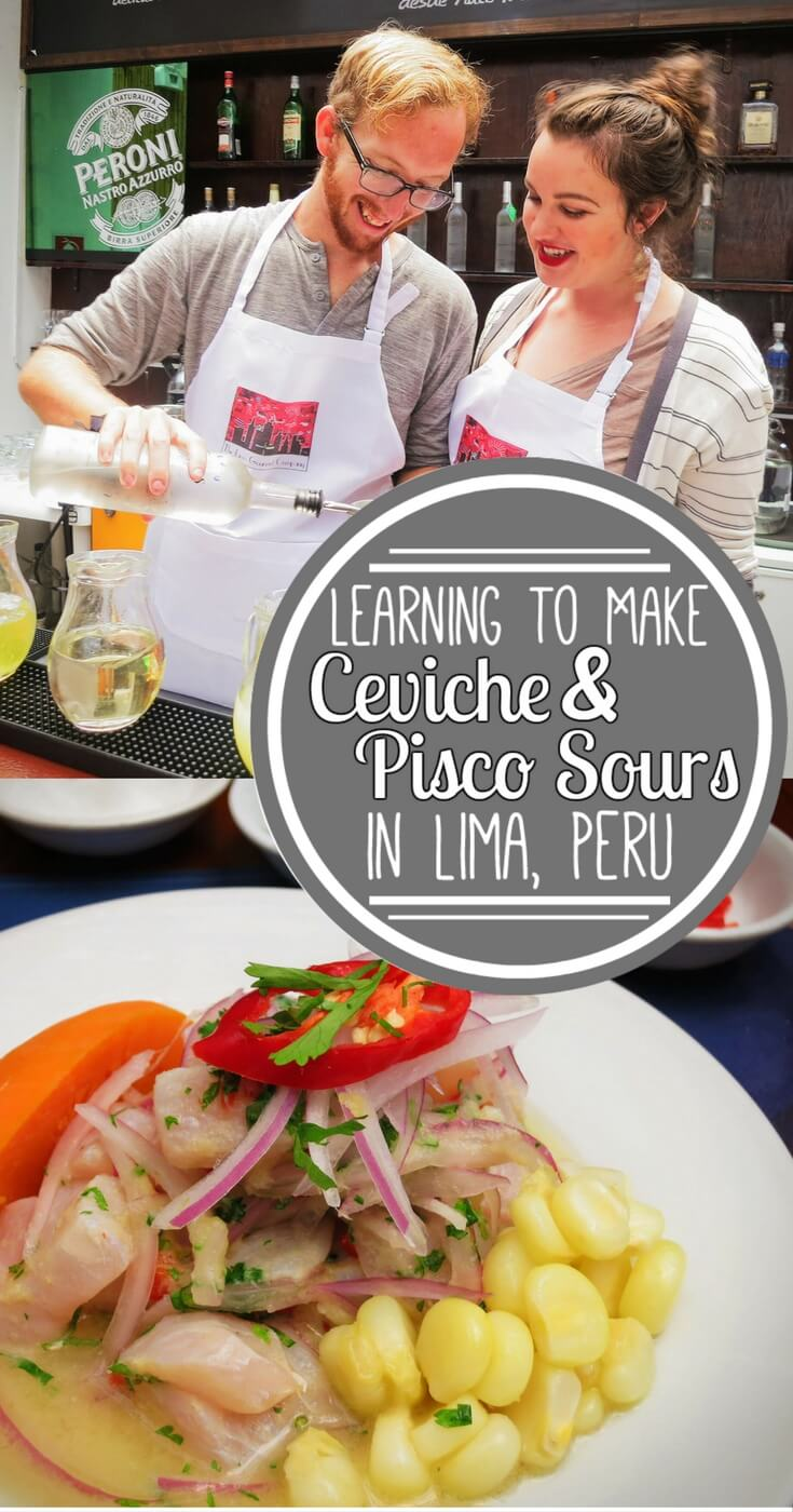 Ceviche and Pisco Sours are the two most iconic (& delicious) Peruvian foods. We learned how to make them both with Lima Gourmet in Peru's most foodie city, Lima!