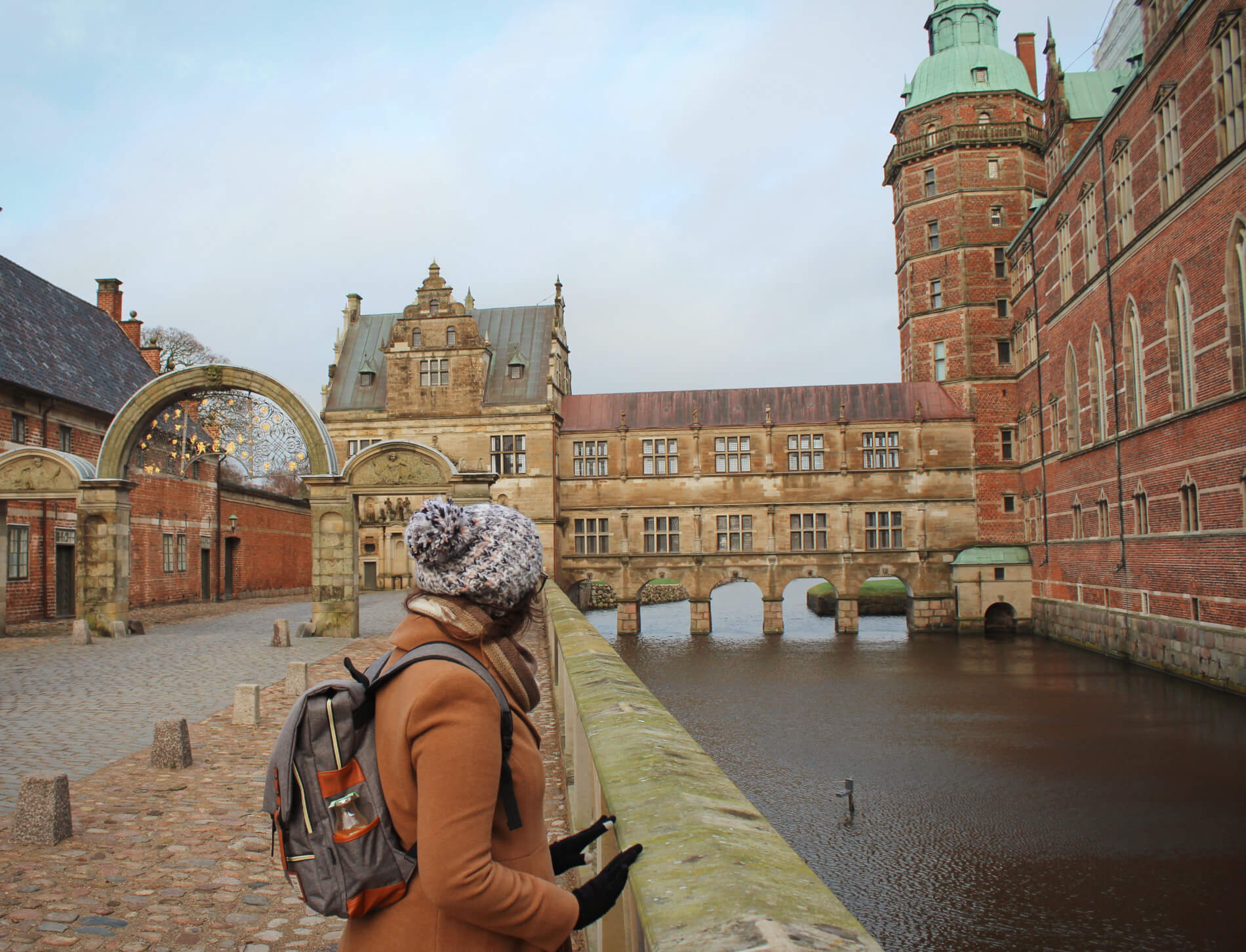Frederiksborg Castle is a fairytale castle near Copenhagen, Denmark. We visited in the winter.