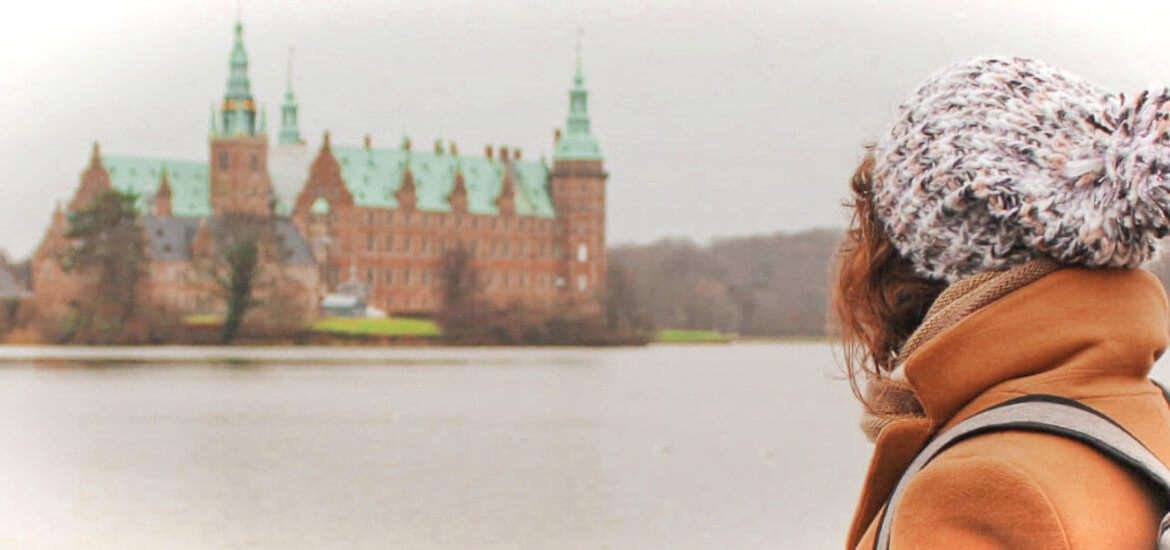Take a self-guided day trip to see 2 fairytale castles in Copenhagen, Denmark! One of the best day trips from Copenhagen in winter.