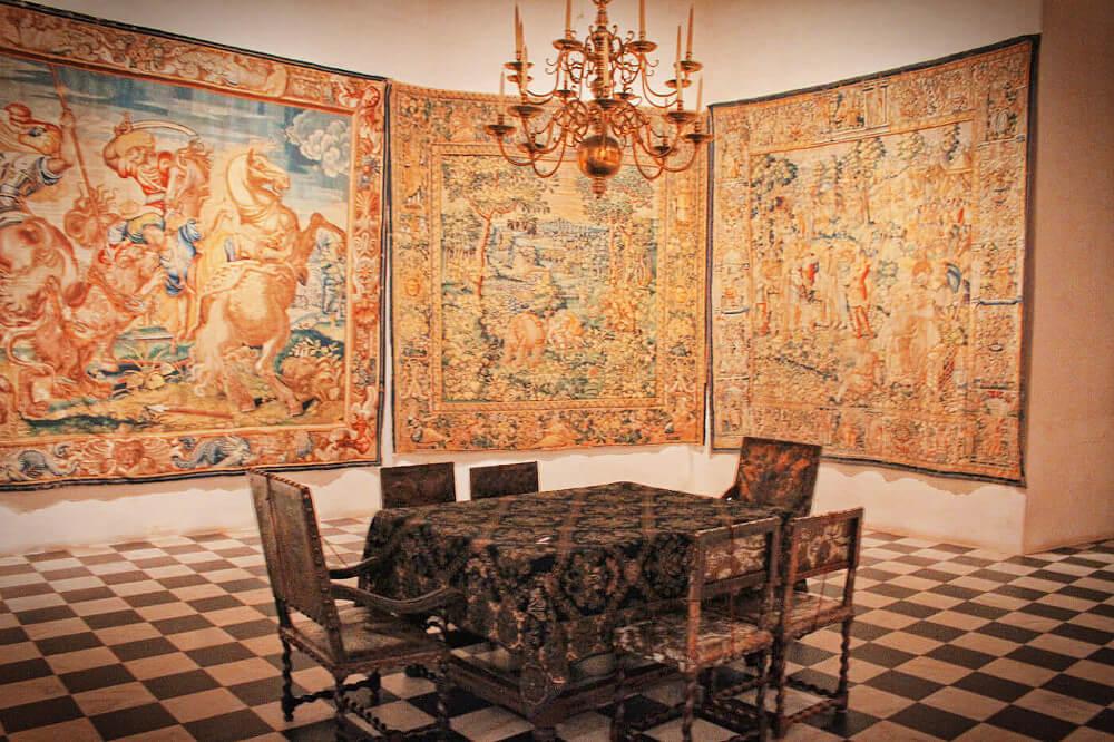 The inside of Kronberg Castle near Copenhagen Denmark, of Hamlet fame.
