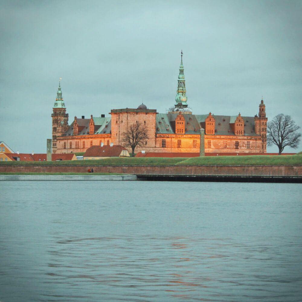 Kronberg Castle in Copenhagen, Denmark is the setting of Shakespeare's Hamlet. We visited in the winter.