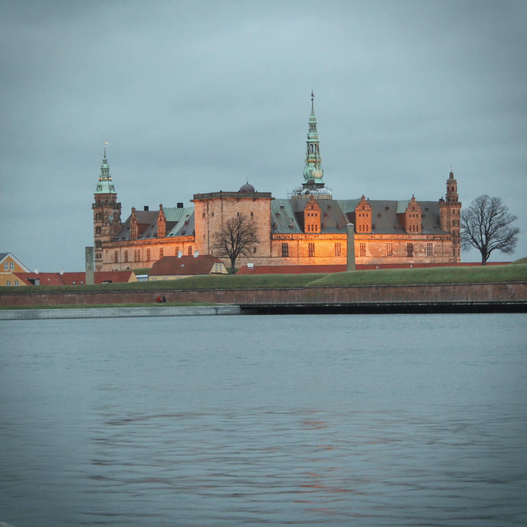 Kronberg Castle in Copenhagen, Denmark is the setting of Shakespeare's Hamlet. We visited in the winter.