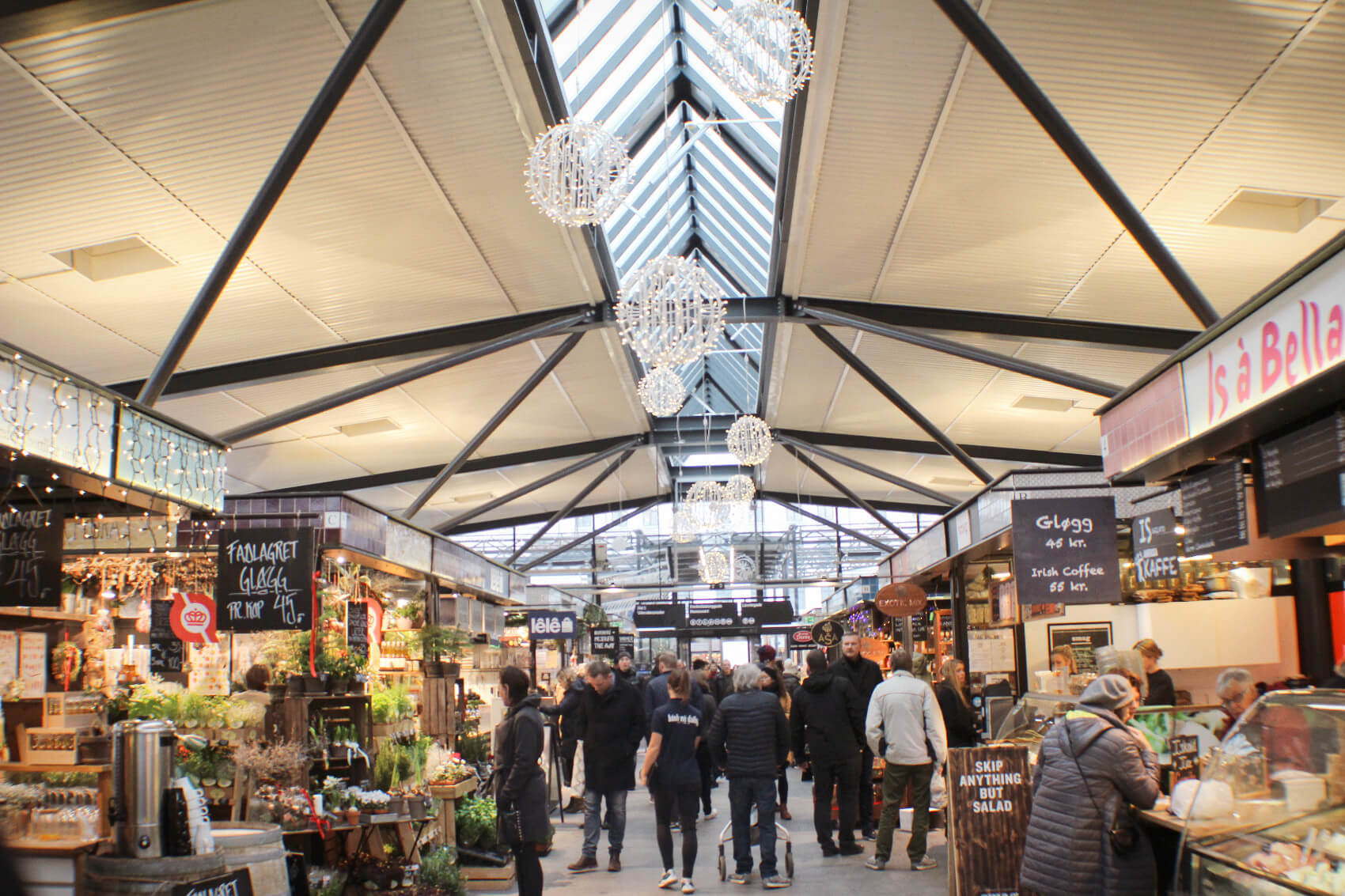 Torvehallarne Food Market in Copenhagen is a fantastic place for budget-friendly groceries and delicious Danish food in Copenhagen, Denmark.
