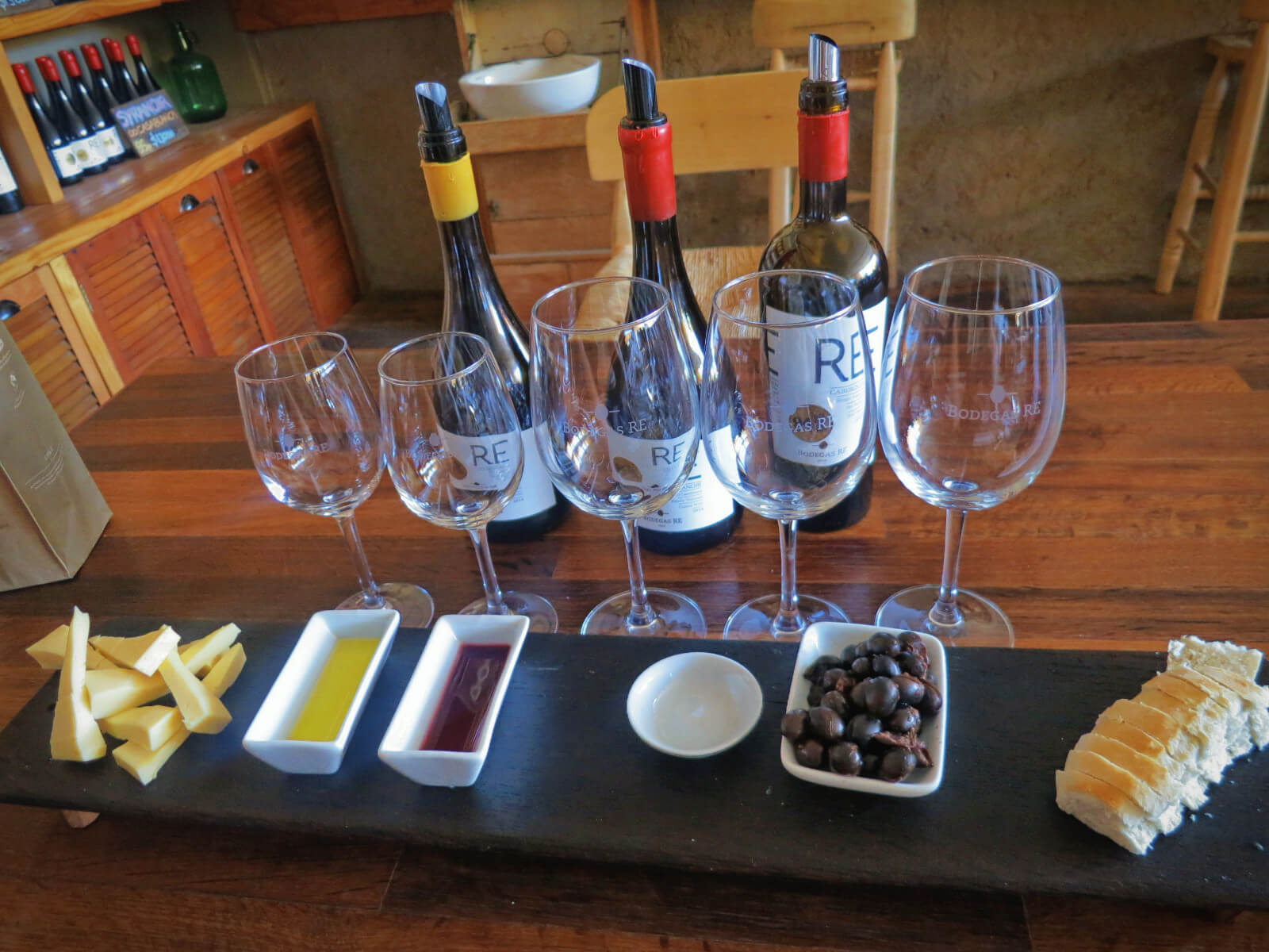 Wine tasting and pairing at Bodegas Re in the Casablanca Wine Region of Chile! Part of our budget-friendly day of wine tasting in Valparaiso without a tour!