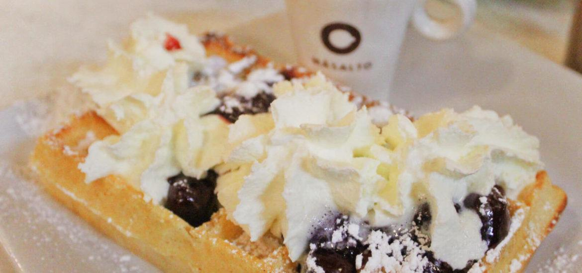 This Belgian Waffle with sour cherries, whipped cream, and chocolate sauce is the stuff that delicious dreams are made of. You can eat one too on the All-In Brussels Discovery Tour with Global Experiences!