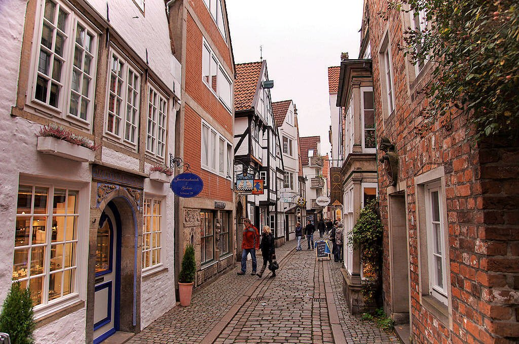 The narrow Schnoor is a perfectly preserved piece of Bremen history. Walking through it evokes Germany's ancient past.