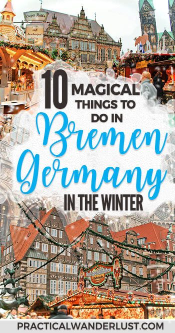 Bremen, Germany in the winter is an adorable fairytale town - literally, it's famous because of a fairytale. From Christmas Markets to German beer, here's 10 things to do in Bremen in winter! #Europe Travel   Winter Travel   Christmas Travel   #Germany   Vacation Destinations