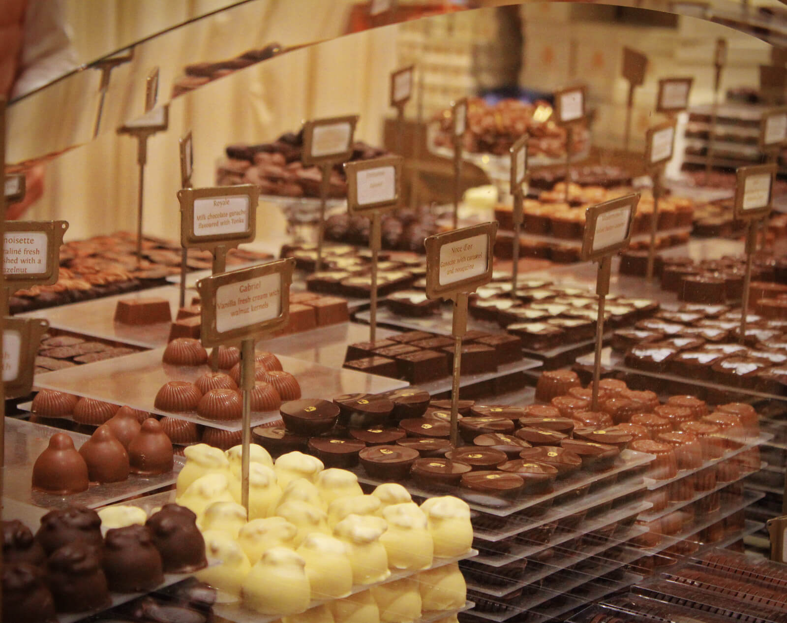 Chocolates at Mary Chocolatier in Brussels, Belgium.