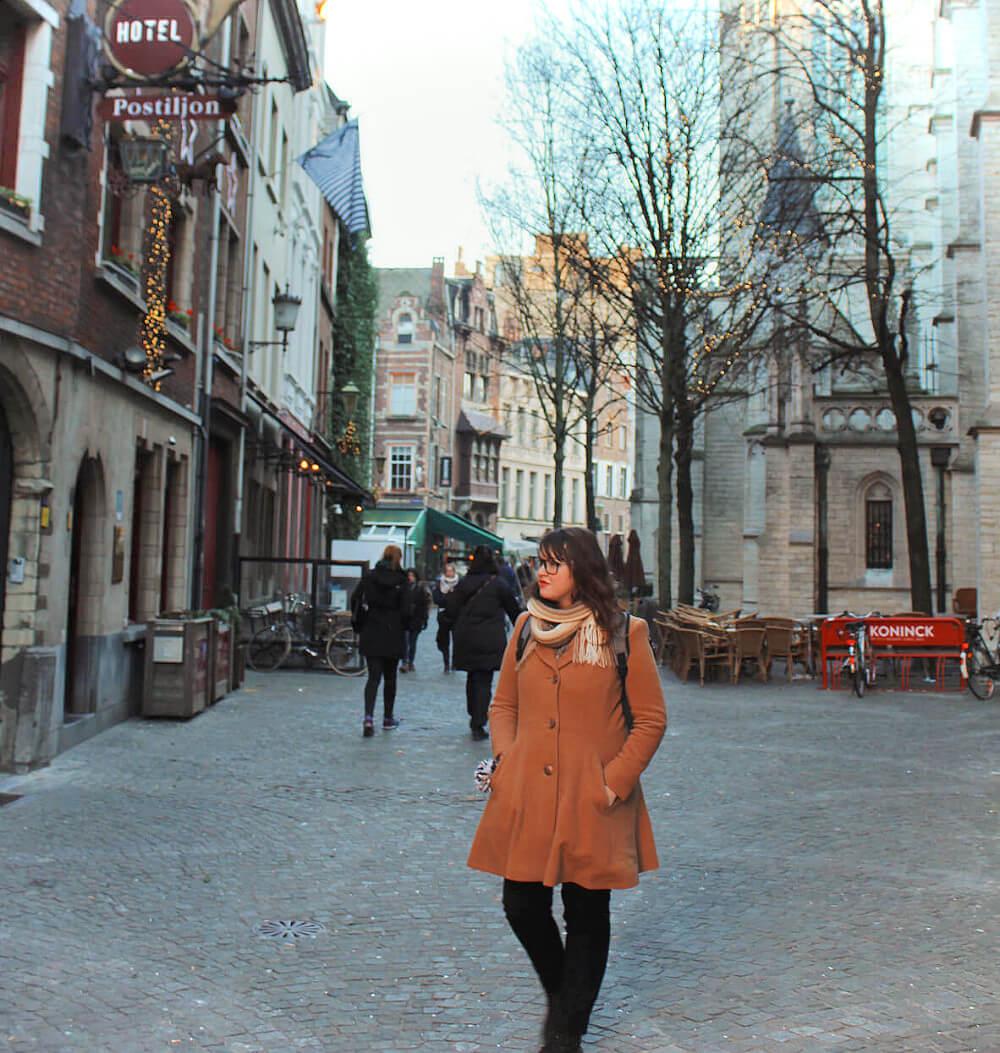 Exploring beautiful Antwerp, Belgium in the winter.
