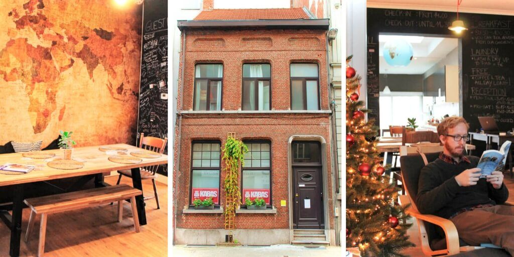 Kabas Hostel is an eco-friendly hostel in Antwerp, Belgium. It's cheap budget accomodation, and most importantly, there are chickens. Eco-friendly Kabas Hostel is in our opinion, the best hostel in Antwerp, Belgium! Read our hostel review for more.