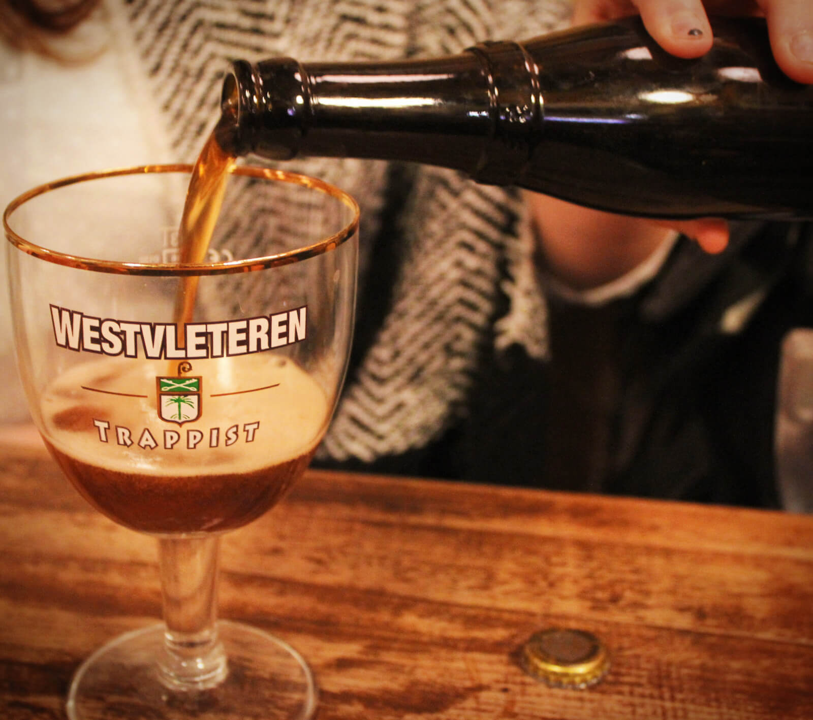 Westvleteren is the most famous Trappist beer in the world. It's also been ranked as the best beer in the world for decades! It's unlabelled and super difficult to get unless you're in Belgium. Oh, and it's INSANELY delicious.