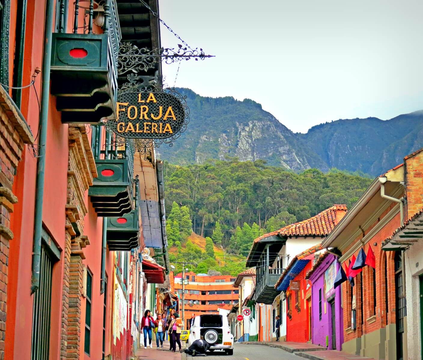 Can you believe this is Bogota, Colombia? We took this in La Candelaria, Bogota, near our Colombian hostel.