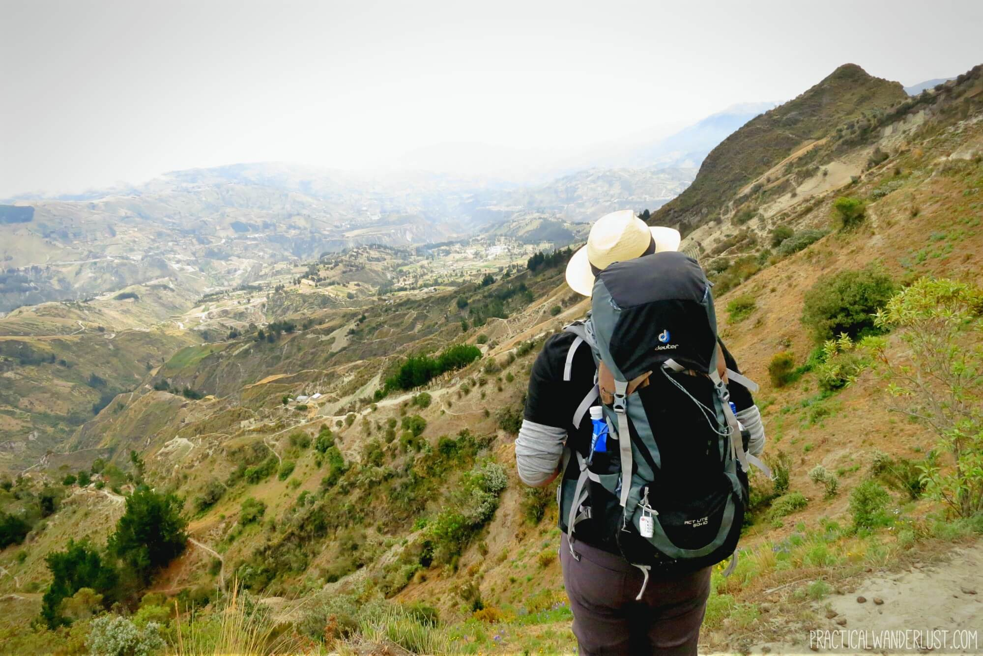 Hiking the Quilotoa Loop in Ecuador.