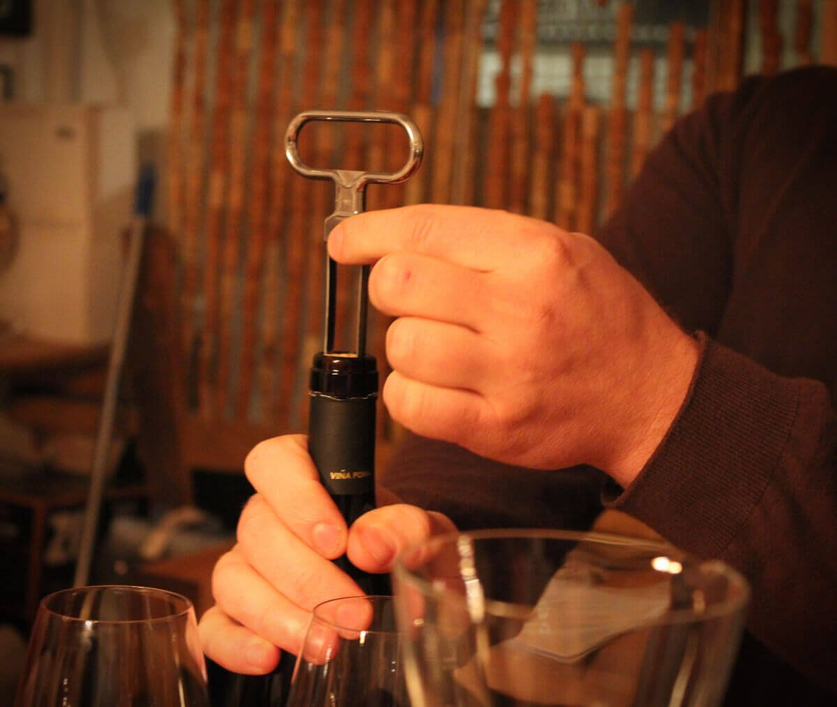 """The """"Ah, So"""" wine opener is also called the """"Butler's Thief."""" It opens a bottle of wine without leaving a mark on the cork - brilliant if you're clumsy.... or stealing! It makes a great show and tell moment at a dinner party, too."""