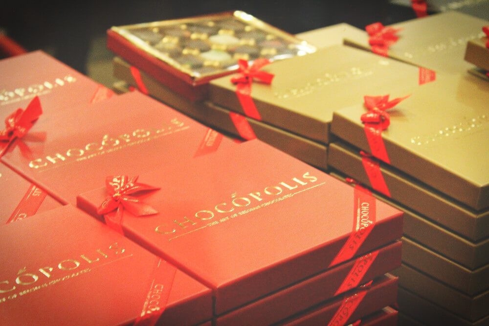 Belgian Chocolate History Lesson: Chocolate boxes were invented by the wife of the inventor of chocolate pralines. Isn't that sweet?