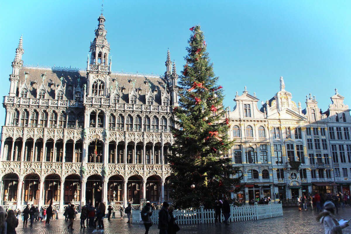 The aptly named Grand Place, the central plaza of Brussels, Belgium.