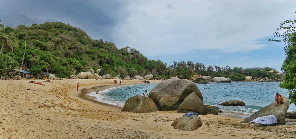 Parque Tayrona, Colombia on a rainy day.