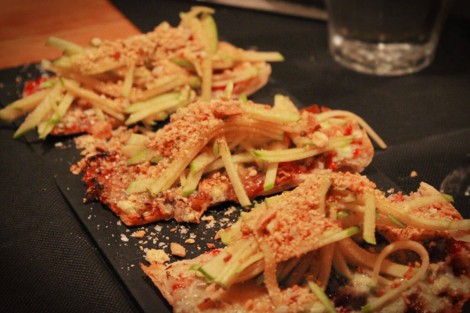 Crunchy tostadas in a Catalan wine bar in Barcelona on the Devour Barcelona wine tasting and tapas tour.Crunchy tostadas in a Catalan wine bar in Barcelona on the Devour Barcelona wine tasting and tapas tour.