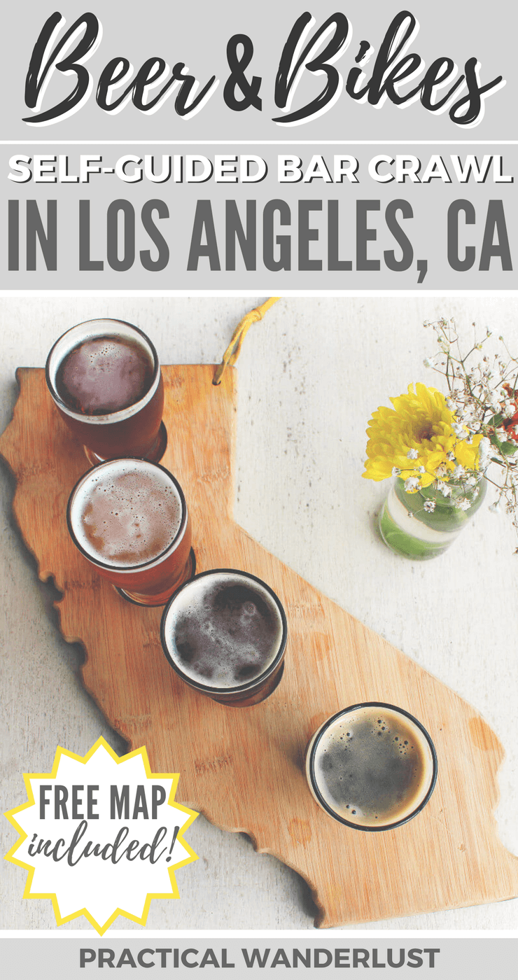 A self-guided craft beer bike tour on the Strand in South Bay, Los Angeles! Drink locally brewed craft beer in Redondo Beach, Hermosa Beach, and Manhattan Beach.