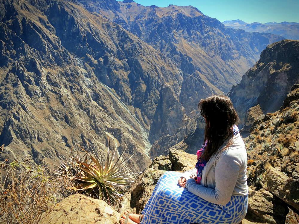 At the stunning Colca Canyon near Arequipa, Peru.