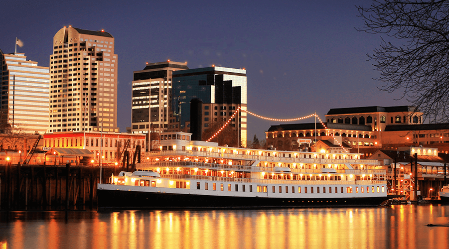 Stay on an actual riverboat from the 1920's in Sacramento, California! One of the most ridiculous & totally essential places to stay near San Francisco, California.