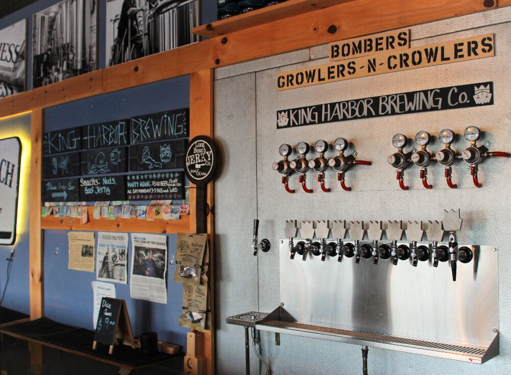 King Harbor Brewing Company, a Los Angeles area brewery on The South Bay Craft Beer & Bikes Bar Crawl