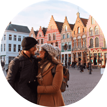 Lia & Jeremy, the couple behind Practical Wanderlust budget travel blog.