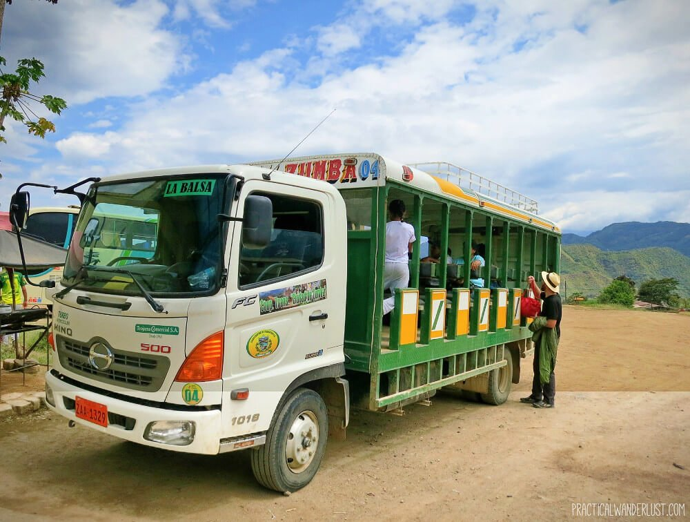 The bumpy Ranchero ride is an adventurous necessary evil to get from Ecuador to Peru via the La Balsa Border Crossing.