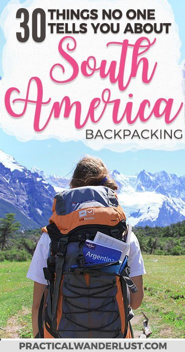 From guard llamas in Ecuador to mercado cats in Chile, here's 30 things no one tells you about backpacking in South America. We spent 5 months backpacking in Colombia, Peru, Ecuador, Chile, and Argentina! South America Travel | South America Travel Backpacking | South America Travel Destinations #SouthAmerica #Backpacking