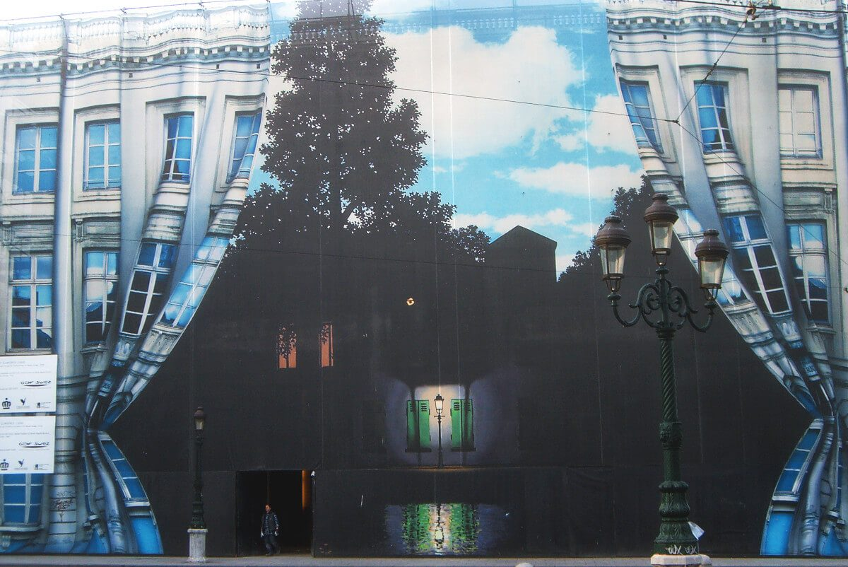 "Wonderfully weird street art in Brussels, Belgium. ""Ce n'est pas une maison"" (CC BY 2.0) by Gastev"