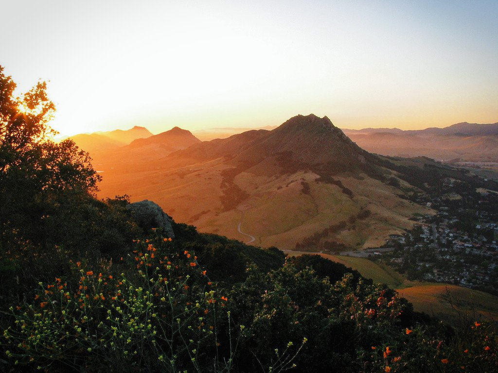 Bishop's Peak, towering over San Luis Obispo in California's stunning central coast.