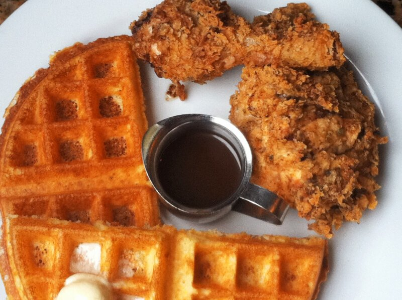 Brown Sugar Kitchen is one of the most famous and well-known southern comfort soul food restaurants in Oakland. Chicken & waffles is one of their house specialties.