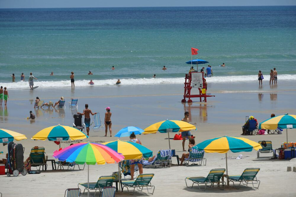 The beach at Daytona Beach, Florida