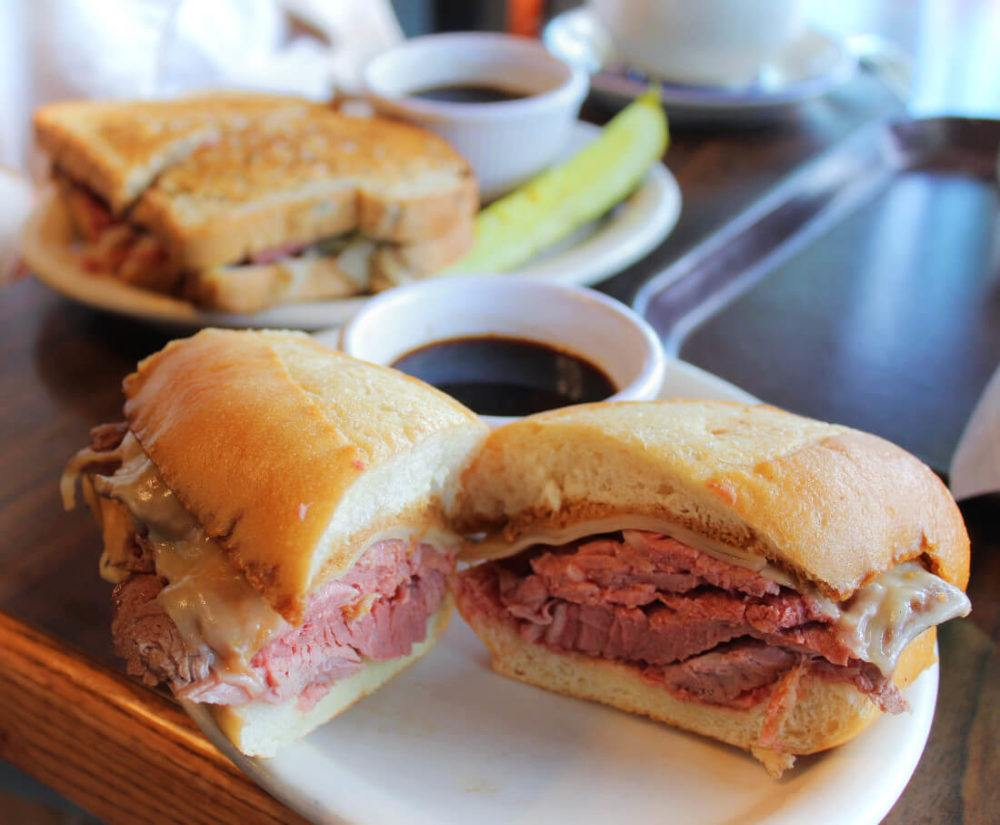 A French Dip sandwich from Hofbrau on Morro Bay's Embarcadero.