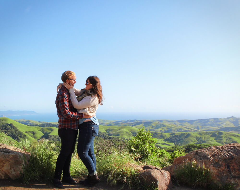 Jeremy & Lia overlooking California's Central Coast