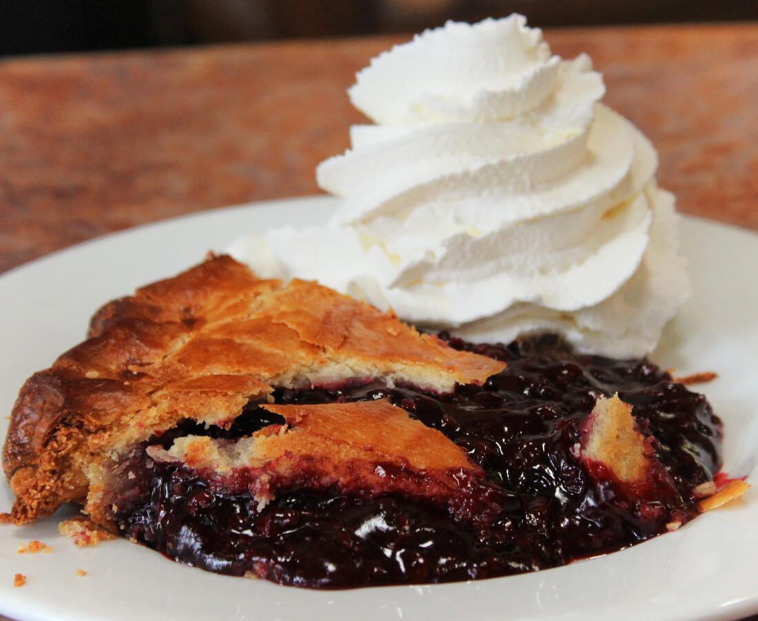 Ollallieberry Pie at Linn's Cafe in Cambria, California on the Central Coast