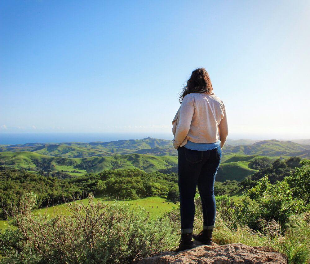 View of the Central Coast, California near Cambria