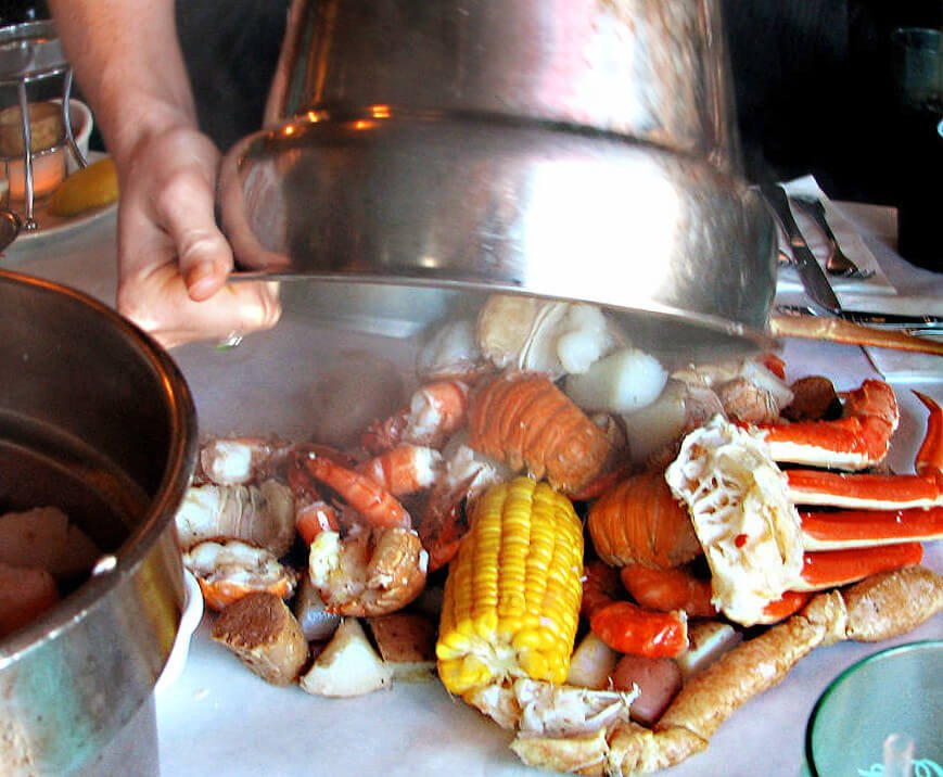 Seafood at the Cracked Crab in Pismo Beach California