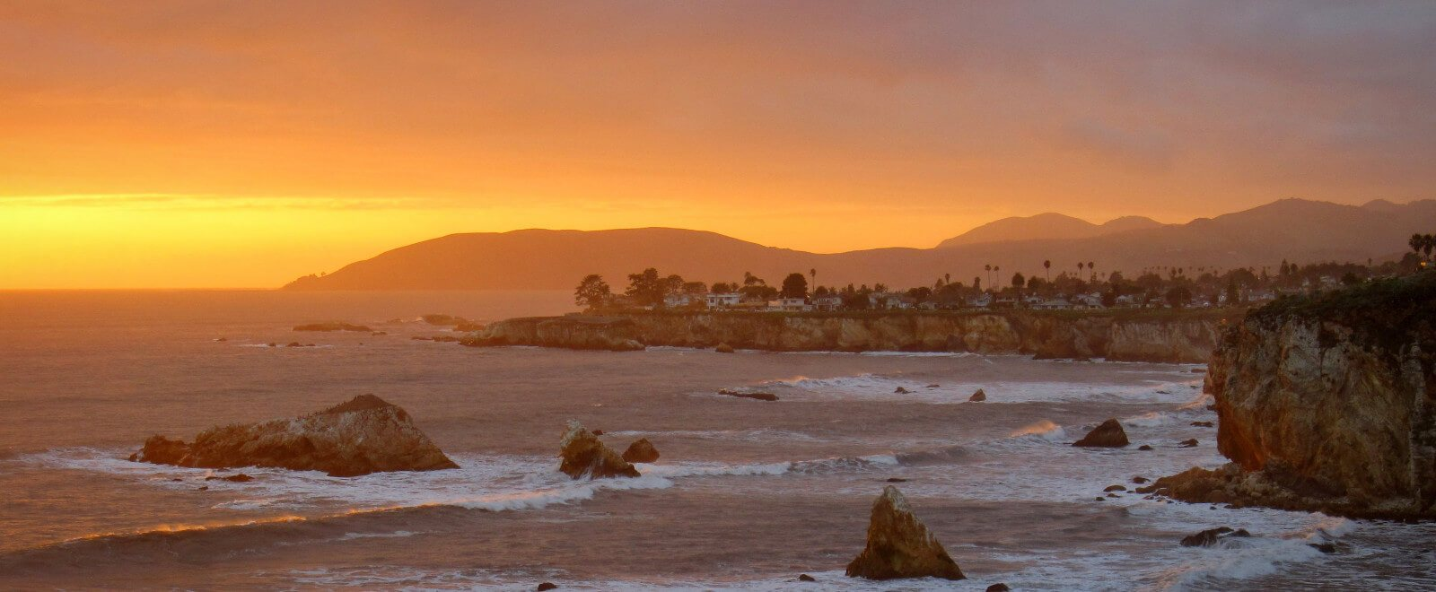 Sunset at Pismo Beach in California's Central Coast