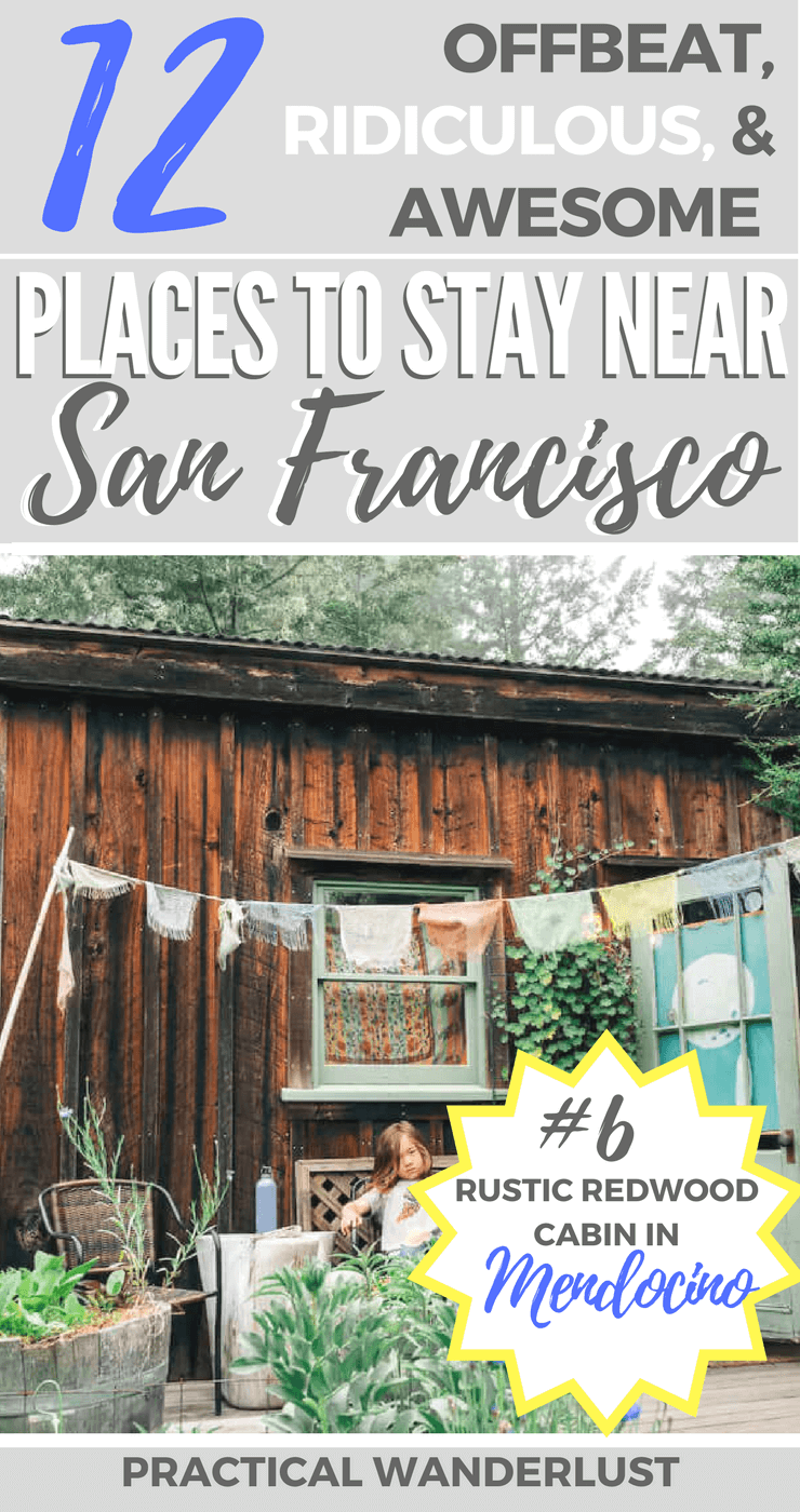 A local's guide to some totally weird and awesome places to stay near San Francisco, California (USA)! From rustic redwood cabins to lighthouse hostels and everything in between, these budget friendly finds are the perfect travel accommodations for your next weekend trip.