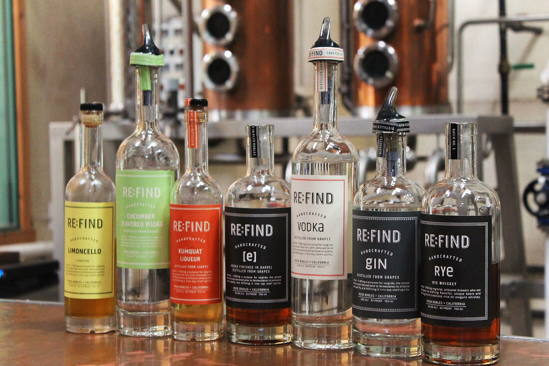 Local craft spirit distillery Re:Find in Paso Robles, California.