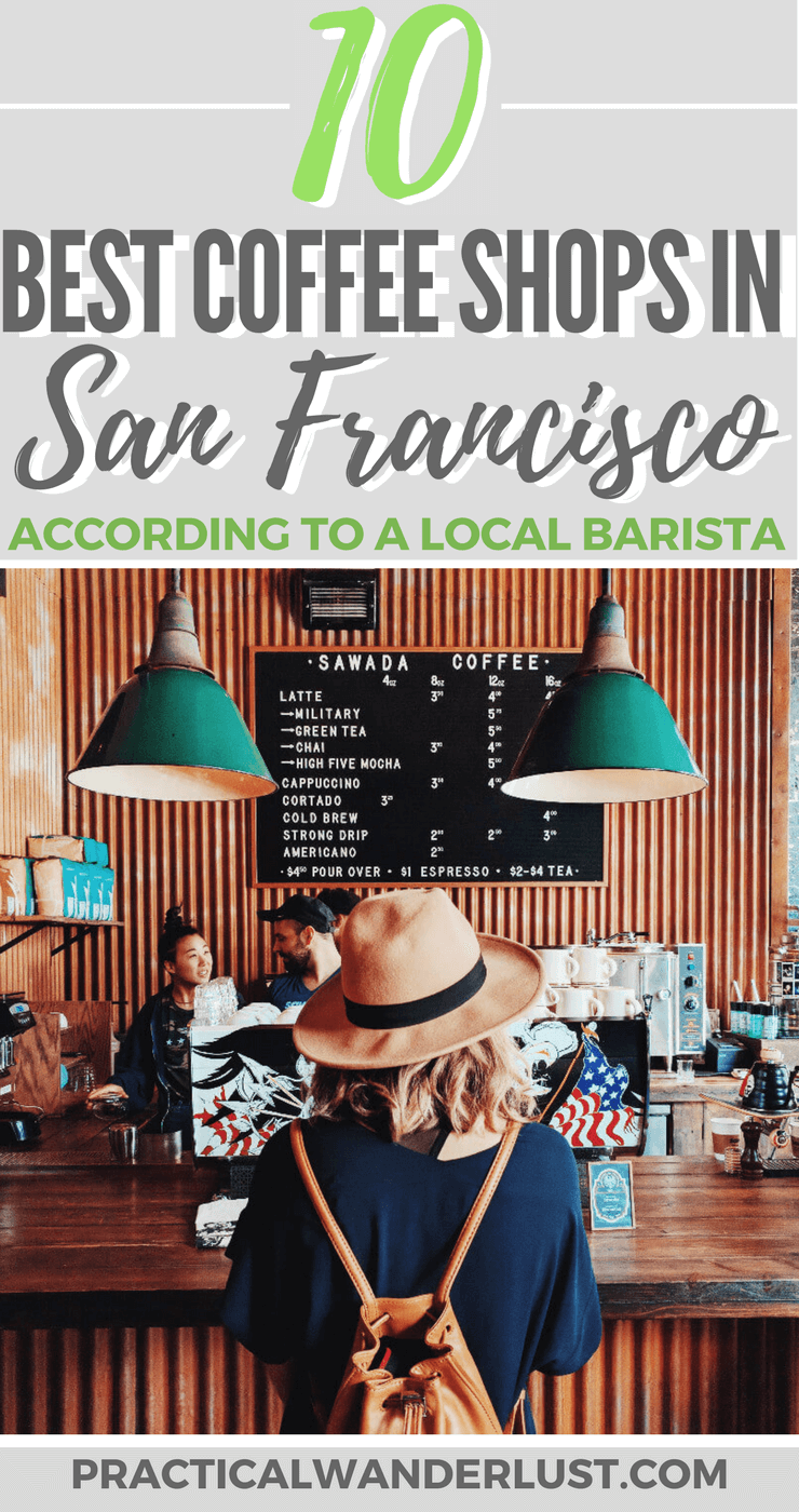 The 10 best specialty coffee roasters in San Francisco, according to a San Francisco local barista! Includes a FREE downloadable Google map. Coffee travel | cappuccino | coffee shops | Bay Area | Third wave coffee | California