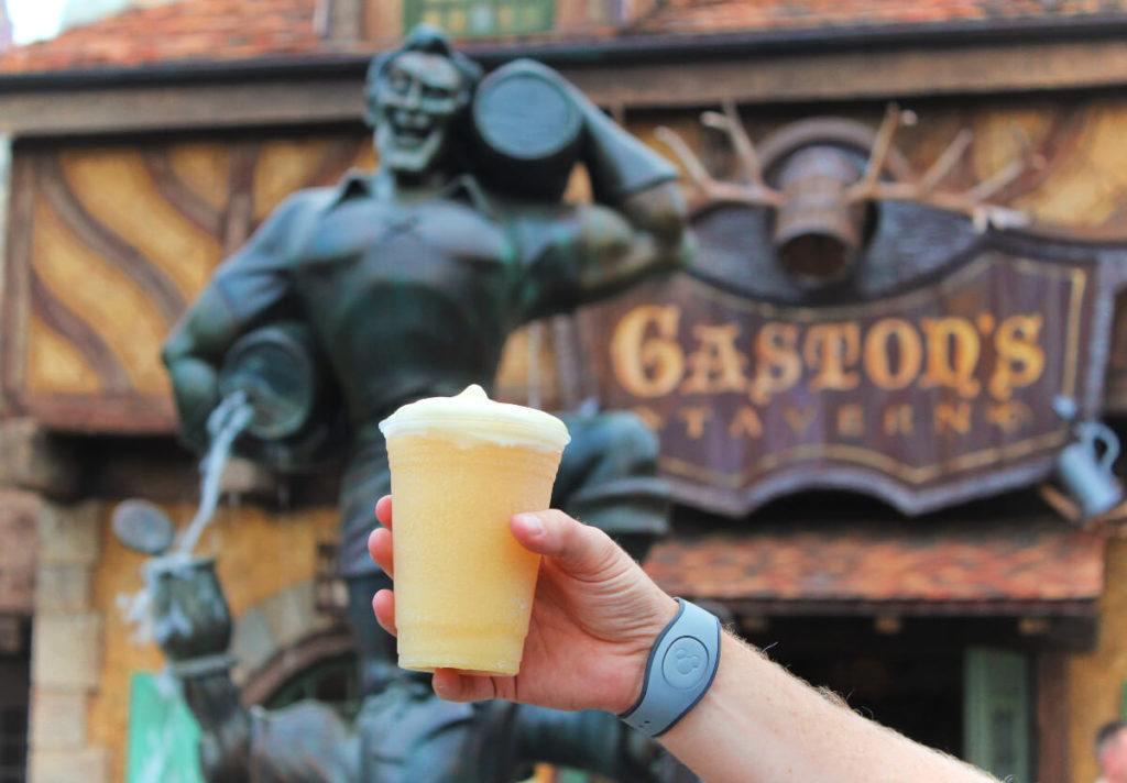 Le Fou's Brew at Gaston's Tavern in Magic Kingdom at Disney World in Orlando, Florida.