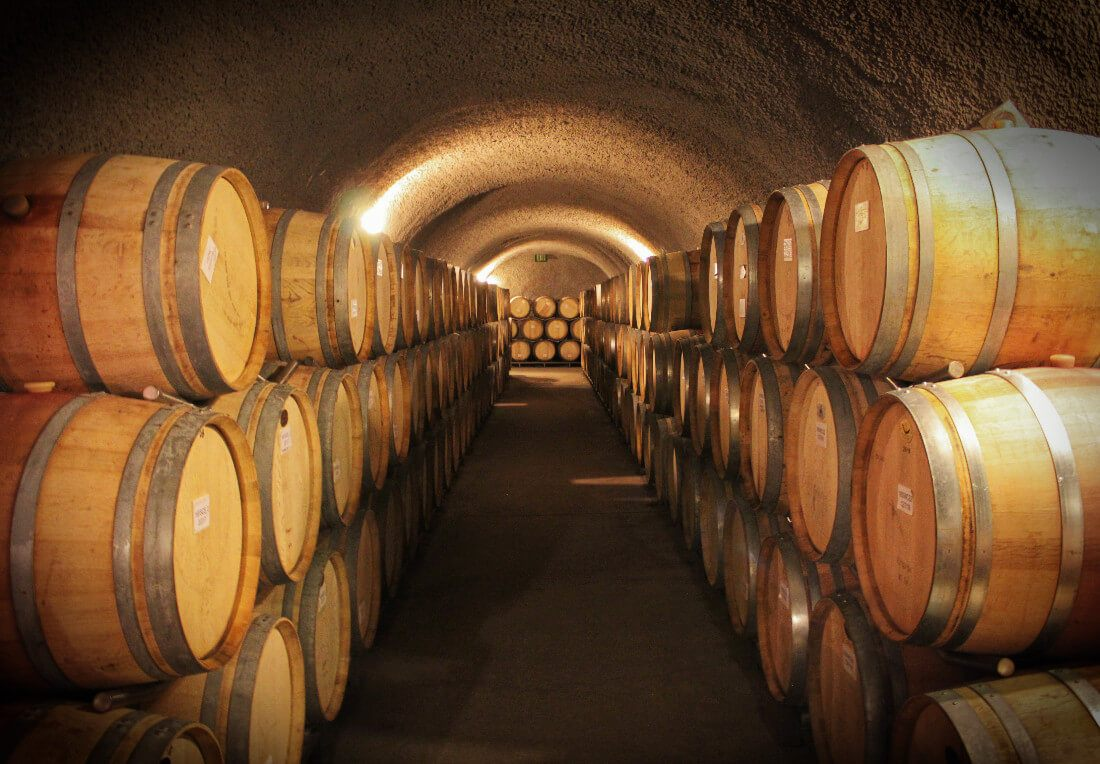 Eberle Winery cave tour in Paso Robles