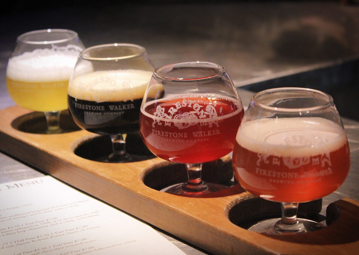 There's more to Paso Robles, California than just wine. There's also delicious beer! Don't skip visiting the famous Firestone Walker brewery to get a craft beer flight!