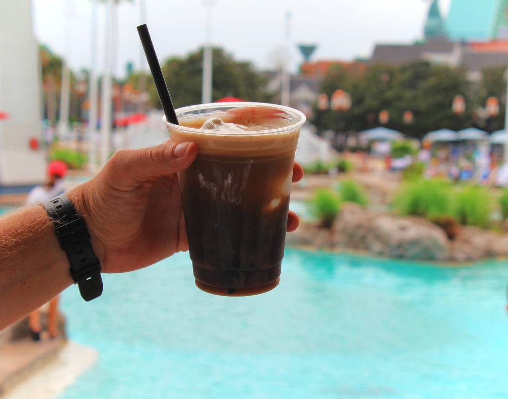 A delicious Guinness Float made with chocolate syrup and vanilla ice cream at Beaches & Cream in Disney's Yacht & Beach Club! This stop has some of the most unique drink options on the Disney Resort Bar Crawl.
